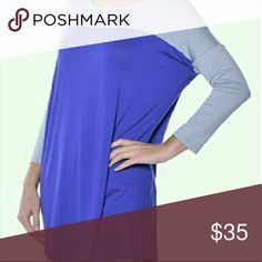 Two color tunic Very soft tunic with a bit of stretch. Pair with leggings or skinny jeans and a pair of boots or booties. Dress up with jewerly or keep it casual. Tops Tunics