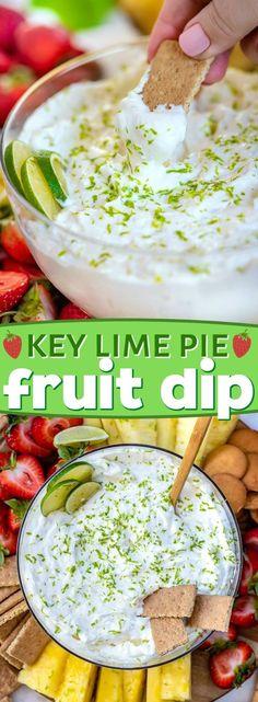 Key Lime Pie Fruit Dip ist sowohl süß als auch herb und perfekt erfrischend. G… Key Lime Pie Fruit Dip is both sweet and tart and perfectly refreshing. Dessert Dips, Köstliche Desserts, Delicious Desserts, Yummy Food, Key Lime Desserts, Fruit Recipes, Dessert Recipes, Cooking Recipes, Key Lime Drink Recipes