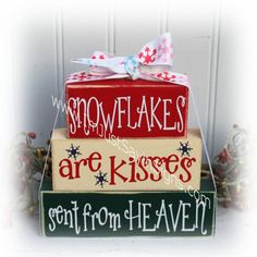 Christmas Wood Crafts, Christmas Signs Wood, Christmas Projects, Holiday Crafts, Christmas Crafts, Christmas Decorations, Christmas Ornaments, Christmas Blocks, Rustic Christmas