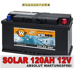 Solarbatterie 100Ah 12V Versorgungsbatterie Wohnmobil Batterie Boot Solar SMF total wartungsfrei 80Ah