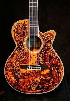 Sharpie art your guitar~ Jazz Guitar, Guitar Art, Guitar Strings, Music Guitar, Cool Guitar, Guitar Room, Prs Guitar, Dj Music, Music Stuff