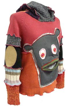 MONSTER SWEATER size ML Made from recycled sweaters by Grecha, €129.95