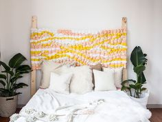 Woven Headboard DIY | Etsy | Treasures & Travels #handmadehomedecor