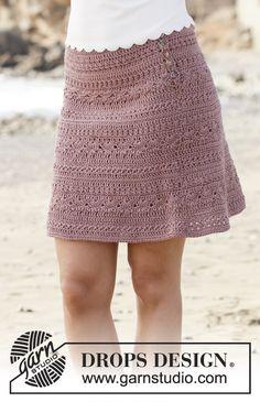 Skirt with fan pattern, crocheted top down. Size: S - XXXL Piece is crocheted in DROPS Muskat.