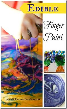Edible Finger Paint Recipe - Toddlers and Preschoolers will love exploring, creating, and playing with this simple paint recipe that is completely taste safe!