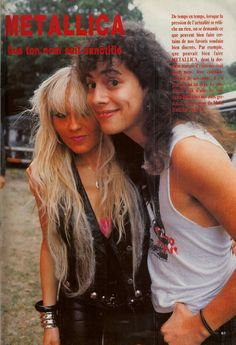 Kirk with Doro Pesch. Lucky girl, hanging out with the Met boys c;