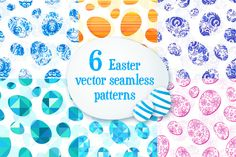 I just released 6 Easter eggs seamless patterns on Creative Market.