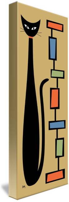Rectangle Cat 2 by Donna Mibus, from the Mid Century Modern Abstract Cat Series