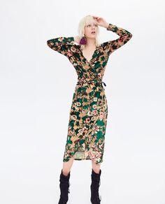 Zara Bordeaux Velours Effet Robe Longue Taille L UK 12