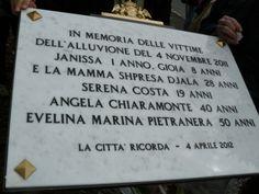 #Genova, #Fereggiano, targa commemorativa che ricorda le vittime di quel tragico 4 novembre