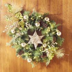 Pretty idea! I have a star like this but in silver I could hang inside my Christmas wreath... Aff