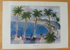RAOUL DUFY * Promenade des Anglais a Nice * Poster Kunstdruck 2000 * 69 x 49 cm