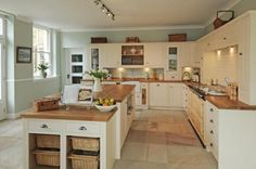 Countertops, cupboards, baskets and open layout