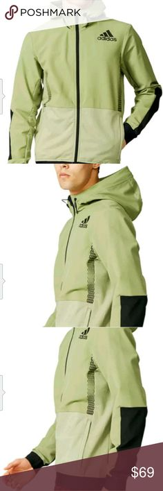 Adidas Training FZ Hoodie 2XL Brand New Men's Adidas Training Workout FZ Hoodie Green/Black 2XL adidas Shirts Sweatshirts & Hoodies