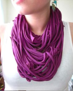 T-Shirt Scarves...love this tutorial