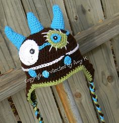 Baby Boy, Monster Hat, Crochet Baby Hats, Monster, Baby Hats, Photo Prop, Photography Prop, MADE TO ORDER. $38.00, via Etsy.