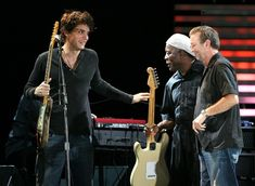 Eric Clapton Photos Photos - Musicians John Mayer, Buddy Guy and Eric Clapton onstage during the Crossroads Guitar Festival 2007 held at Toyota Park on July 28, 2007 in Bridgeview, Illinois. - Eric Clapton's Crossroads Guitar Festival