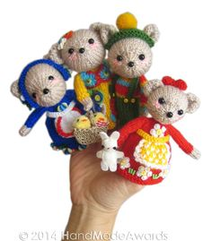 NOTE: You will receive the PATTERN to make your own toy NOT the finished toy!    What a lovely Finger Puppets!    The Bears Puppets are so cute