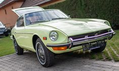 A timeless light touch Restoration of a Lime Yellow 112 Datsun Japanese Classic car for sale with a 4 speed gearbox. Datsun 240z For Sale, Collector Cars, Cars For Sale, Classic Cars, Restoration, Seeds, Lime, Told You So, Japanese