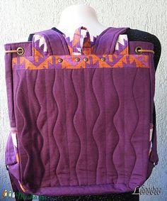 Textil hátizsák népi mintázatú anyagból (Lintu) - Meska.hu Textiles, Lany, Diaper Bag, Backpacks, Fashion, Moda, Fashion Styles, Diaper Bags, Mothers Bag