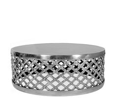 Eliza Coffee Table - This vintage-inspired piece is the statement piece you've been looking for. Constructed of polished aluminum, the Eliza tables are for use on carpeted