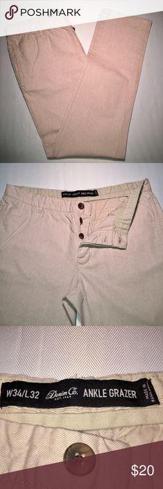 Button Fly Linen Pants - 34/32 Button Fly Linen Pants - 34/32 Denim Co. Pants