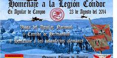 Homenaje a la Legión Cóndor. 23 de Agosto de 2014 en Aguilar de Campoo