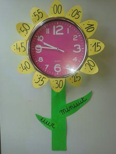Klok versierd als bloem