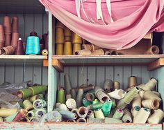 Colorful Spools of Thread Photograph by JillianAudreyDesigns, $25.00