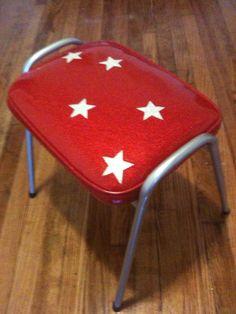 Wonder Woman stool. Upholstery, Stool, Wonder Woman, Furniture, Design, Home Decor, Women, Homemade Home Decor, Women's