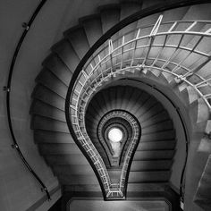 """""""I Have An Idea"""", A beautiful Staircase from the Cubism Museum in Vinohrady, Prague, Czech Republic 