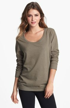 Monrow Boyfriend Fleece Sweatshirt available at #Nordstrom