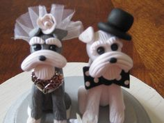 Schnauzer Cake Toppers! My future husband is going to have to agree to this... :)