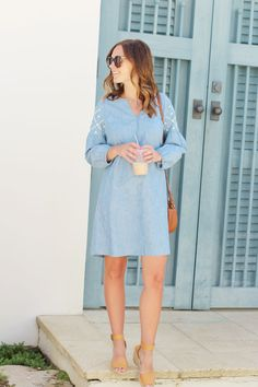 jillgg's good life (for less) | a west michigan style blog: my everyday style: a chambray dress for spring!