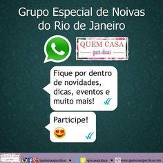 Grupo especial para noivas do RJ no WhatsApp!