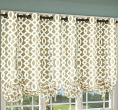 Up curtains on pinterest tied up curtain tutorial and diy curtains
