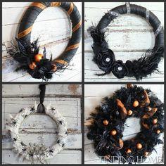halloween wreaths- easy diy