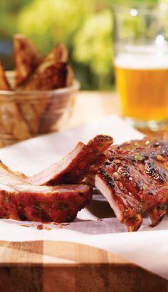 Recette Côtes levées à la bière noire et à l'érable Tempeh, Steak, Rib Recipes, Other Recipes, Grilling, Pork, Meal, Food, Trier