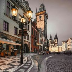 Photo about Prague, Old City Hall on the Town Square early evening. Image of cityscape, prague, europe - 37377938 Dubrovnik, Wonderful Places, Beautiful Places, Places To Travel, Places To Go, Prague Old Town, Prague 1, Prague Photos, Prague Travel