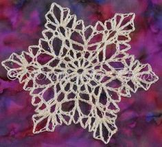 Ravelry: Four-day Weekend Snowflake pattern by Deborah Atkinson Crochet Angels, Crochet Cross, Thread Crochet, Knit Or Crochet, Crochet Motif, Crochet Doilies, Crochet Appliques, Crochet Edgings, Crochet Christmas Ornaments