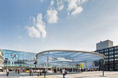 The world's largest air cushion floats above Aarau's new bus terminal, Aarau, Switzerland by Vehovar & Jauslin Architektur AG (C) Eduard Hueber. Archphoto. New entry into the WAN Civic Award 2014