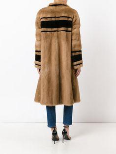 Christian Dior Vintage длинное пальто в полоску