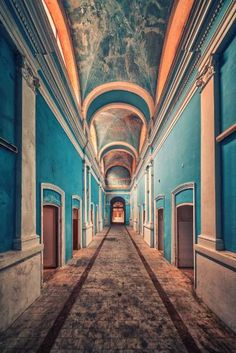 """Saatchi Art Artist Matthias Haker; Photography, """"The Blue Mile """" #art   Explore art inspired by Wes Anderson on Saatchi Art: http://www.saatchiart.com/art-collection/Photography-Painting-Collage/Inspired-by-Wes-Anderson/722504/109932/view"""