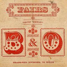 B & O found type by #typehunter #letterpress #chromatic #decorativetype