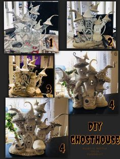 Best 11 scale DIY Dollhouse Miniature Furniture Straight Stairway with Left Handrail – SkillOfKing. Clay Fairy House, Fairy Garden Houses, Ghost House, Witch House, Diy Dollhouse, Dollhouse Miniatures, Plastic Bottle House, Plastic Bottles, Halloween Fairy