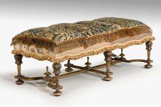 James II Design Walnut Stool (Ref No. 1581) - Windsor House Antiques