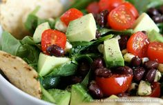 Mexican Spinach Salad - I made this (minus the corn because I didn't have any at the time).  Quite yummy.