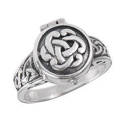 Sterling Silver .925 Poison Ring Celtic Knot work Design