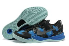 hot sale online 7ef5a 658ee Kobe 2013 Kobe VIII Elite Blue Black Tiffany Blue Grey Nike Shoes, Kobe 9  Shoes