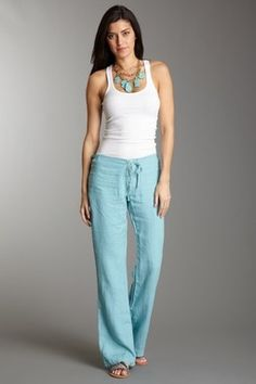 Teal Linen Pants | Style | Pinterest | Best Teal and Linens ideas